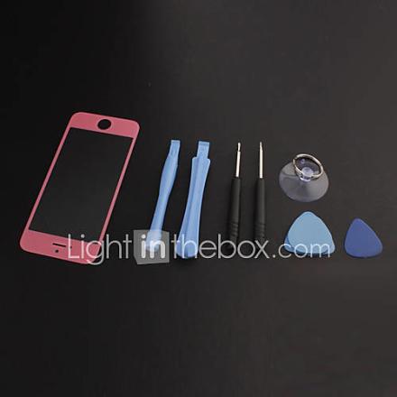 Korjaus LCD Tuulilasin Glass Lens osan kanssa kasata ja purkaa työkalut asettaa iPhone 5 (eri värejä)