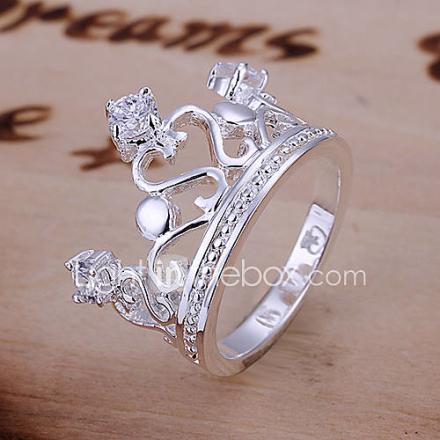 Tyylikäs Crown suunnittelu rengas