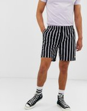 Obey Easy striped shorts in black/white - Stripe black multi