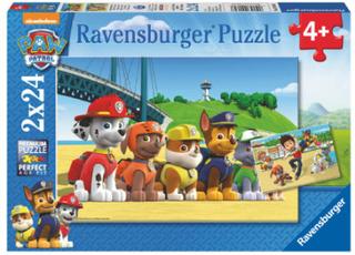 Ravensburger Puslespil 2 x 24 stykker, Paw Patrol: Heroic Dogs