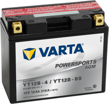 Varta Motorcykelbatteri Powersports AGM YT12B-4/YT12B-BS
