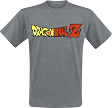 Dragon Ball - Z - Logo -T-skjorte - mørkegrå melert