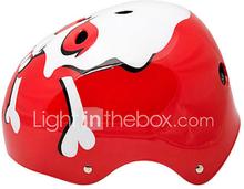 MOON Pyöräily Red And White Skull ABS / EPS Adult 11 aukot Monikäyttöinen Kypärä (koko L)