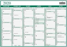Platekalender GRIEG A4 enkel 2020