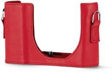 Leica Kameraskydd läder, Röd till C-LUX