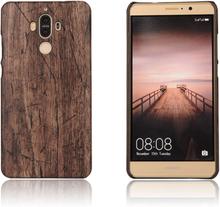 Huawei mate 9 skal med läder textur - trä textur