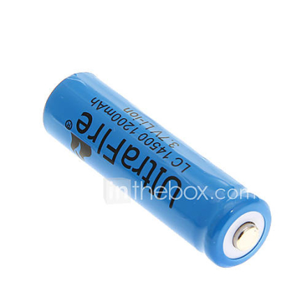 UltraFire 14500 1200mAh 3.7V ladattava Li-ion akku - Blue (1 kpl)