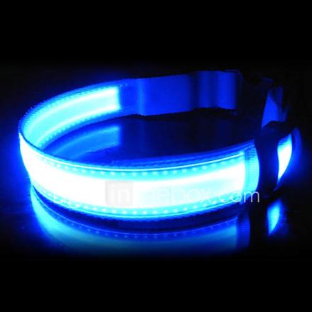 Säädettävä Nylon LED Collar Koirat (Assoted värejä, kokoja)