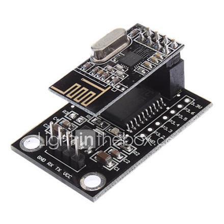 STC15L204 Wireless Development Board NRF24L01 Wireless Serial Module - Musta