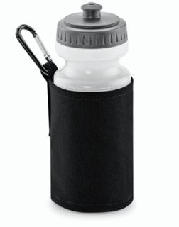 Water Bottle and Holder Black
