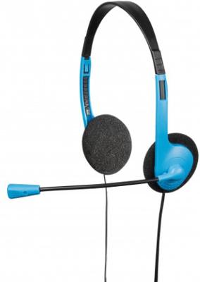 Hama pc-headset hs-101 blå svart