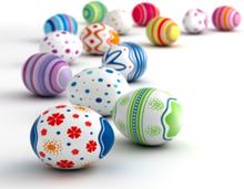 Måla ditt ägg med påskfärg, 5 olika färger