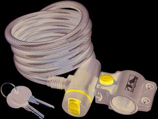 M-Wave Spiral Key cykellås 10x1,800mm, Med støv Cover!