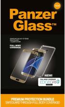 Samsung Galaxy S7 Edge - Gold w/ EdgeGrip (Premium Glass)