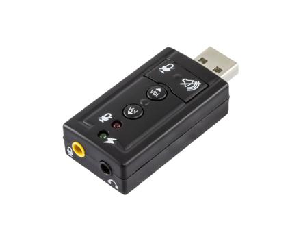 USB Ljudkort 7.1 2x3,5mm