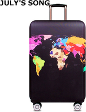 JULY'S SONG Travel Protective Cover Elastic Luggage Cover Trolley Luggage Case for 18~32 inch Suitcase Case Travel Accessories