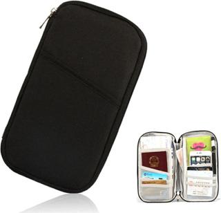 Resväska - inför resan samla ditt pass & flygbiljetter