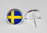 Örhängen silver svenska flaggan heja sverige stift