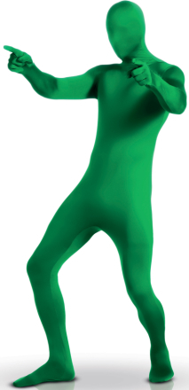 Grön kroppsstrumpa för vuxna