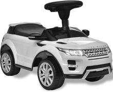 vidaXL Åkbil för barn Land Rover 348 med musik vit