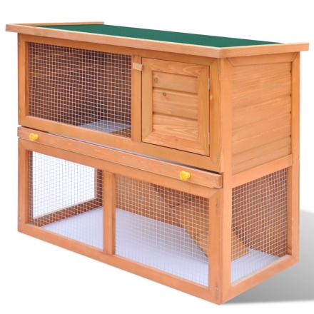 vidaXL udendørs bur til små kæledyr 1 dør træ