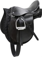 Kerbl Haflinger Sadel svart läder 32285