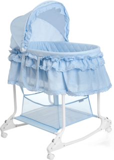 Little World 2-i-1 vugge 85 x 70 x 110 cm blå LWFU002-LBL