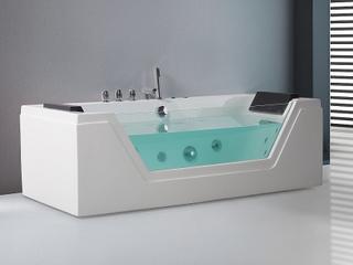 Badekar med massage Hvid Samana