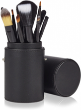 Basics Makeup Brush Set Black 12 st