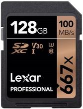 128 GB LexarProfessional 667x UHS-I V30 100MB/s SDXC