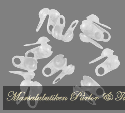 Knutgömmor bead tips silver färgade - 20 st
