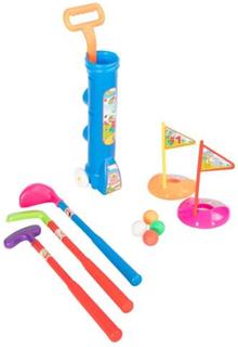 Golfsett med trillekoffert til barn med masse tilbehør- blå