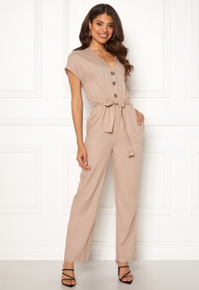 Y.A.S Gianna SS Jumpsuit Oxford Tan M