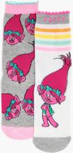 Girls Trolls 2 Pack Socks