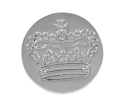 Golf Ball markøren Silver Jubilee krone - Solid sølv