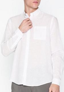 River Island Ls Linen Skjorter White