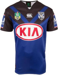 Canterbury Bulldogs 2017 Mens bort NRL Rugby Jersey tröja blå/svart S