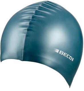 BECO metalliskt silikon simning Cap - bensin grön