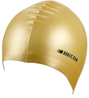 BECO metalliskt silikon simning Cap - guld