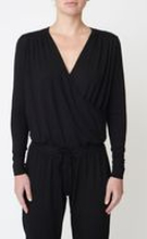 Asquith Long Sleeve Jumpsuit -bambuhaalari (Jet Black)