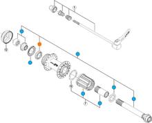 Shimano Deore XT Kullagerbehållare HB-M770 Kullagerbehållare