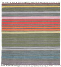 Rainbow Stripe - Grå matta 200x200 Modern, Kvadratisk Matta