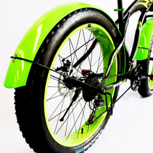 "LOVAGE 2PCS / batch bicycle fender fat mountain bike 26x4.0 ""fast front and rear demolition bicycle fender fender high strength"