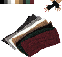 Armvärmare stickade, fingerlösa & korta [20cm] - handledsvärmare
