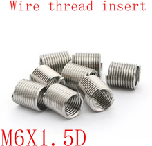 50pcs M6*1.0*1.5D Wire Thread Insert Stainless Steel 304 Wire Screw Sleeve, M6 Screw Bushing Helicoil Wire Thread Repair Inserts