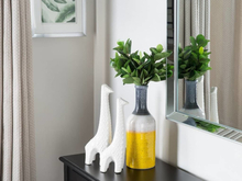 Beliani Vas gul/vit/grå LARNACA