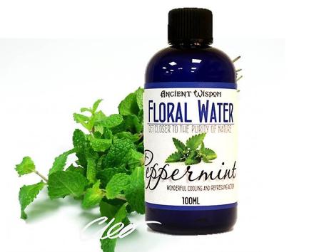 Pebermynte blomstermotiver vand naturlige hud Toner 100ml