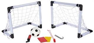 Fodboldmål til haven - 2 små mål eller 1 stort. Inkl. fodbold og tilbehør
