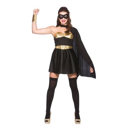 Wicked kvinder Fancy kjole sort & guld Hot Super Hero kostume - Fruugo