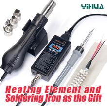 YIHUA 8858 110V 220VPortable BGA Solder Rework Station Digital Hot Air Blow dryer Heat Gun Soldering Station